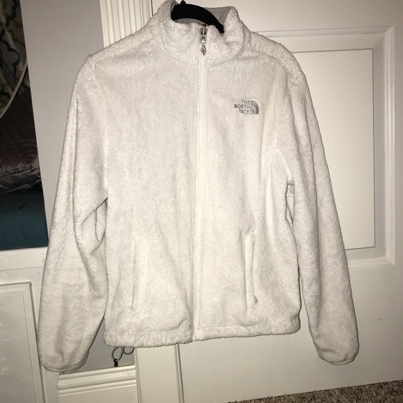 faff4d8a9 WHITE NORTHFACE FUZZY COAT *CROSSPOSTED-DEPOP*